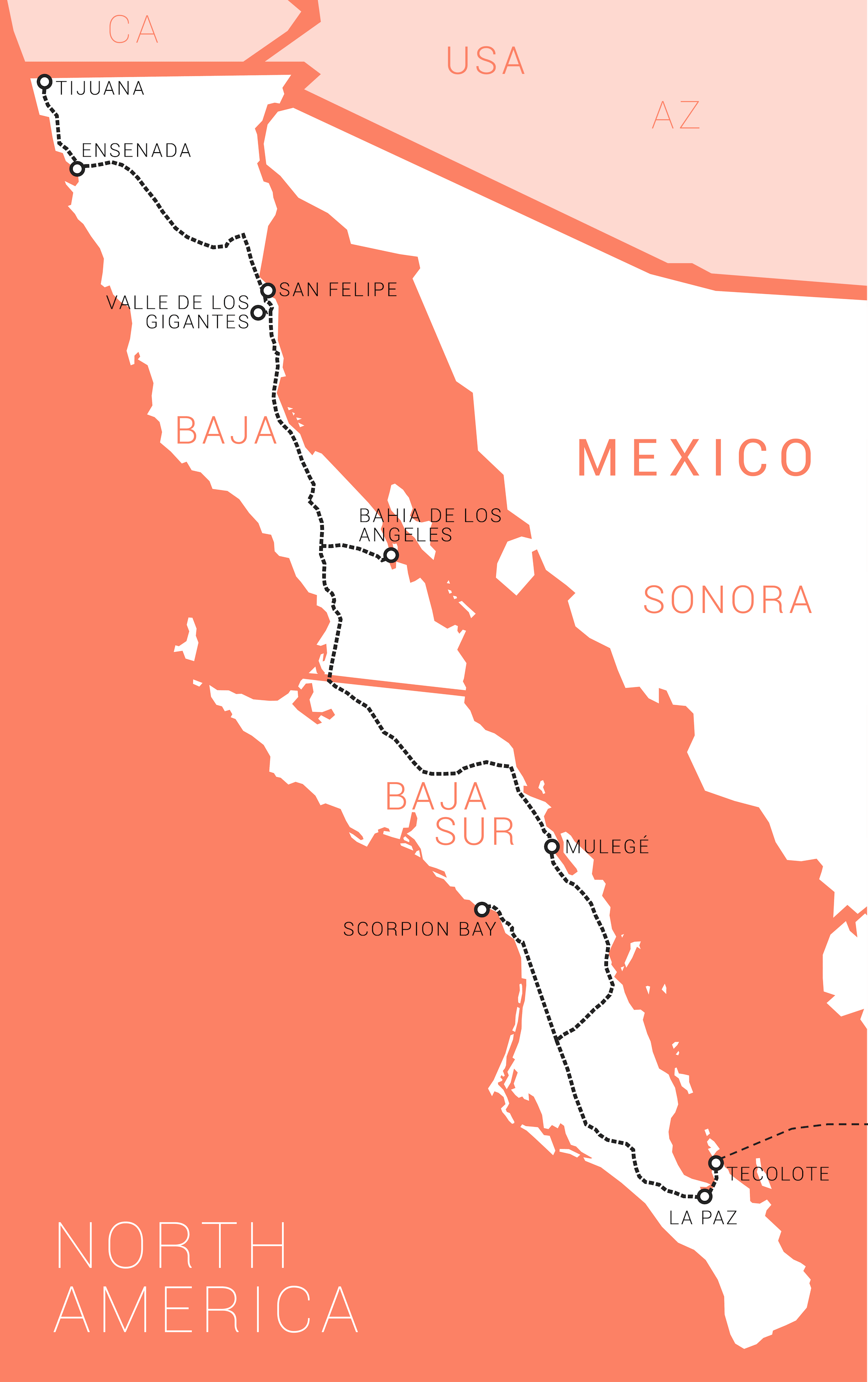 Bahia De Los Angeles Map.Camerivan Com Panamericana The Journey Of A Lifetime Mexico